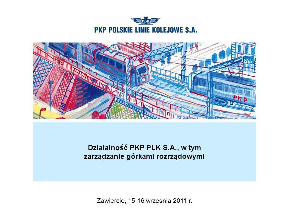 Działalność PKP PLK S.A., w tym zarządzanie górkami rozrządowymi