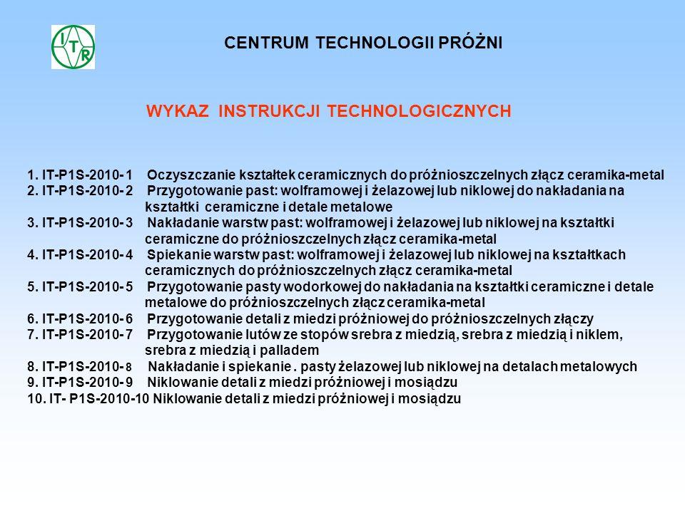 CENTRUM TECHNOLOGII PRÓŻNI