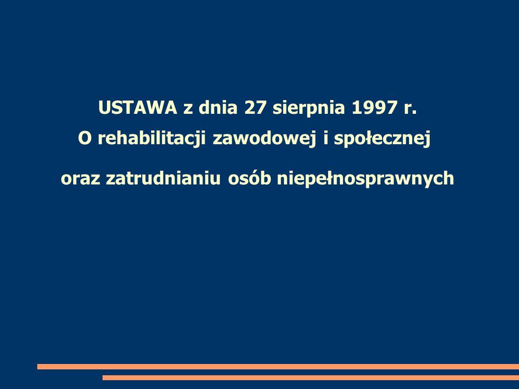 USTAWA z dnia 27 sierpnia 1997 r.