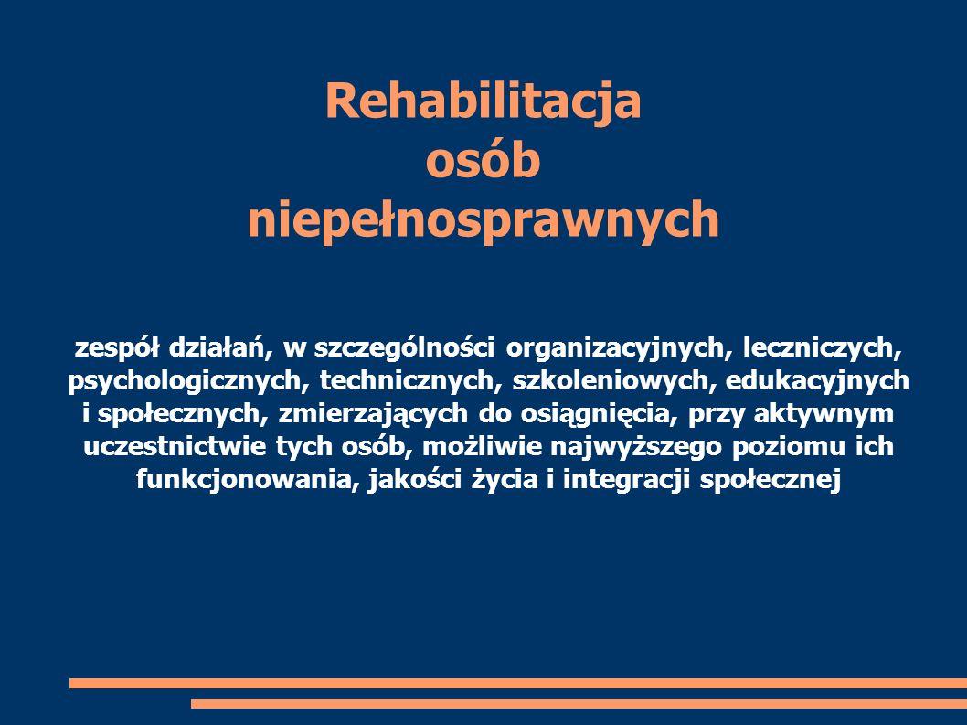 Rehabilitacja osób niepełnosprawnych