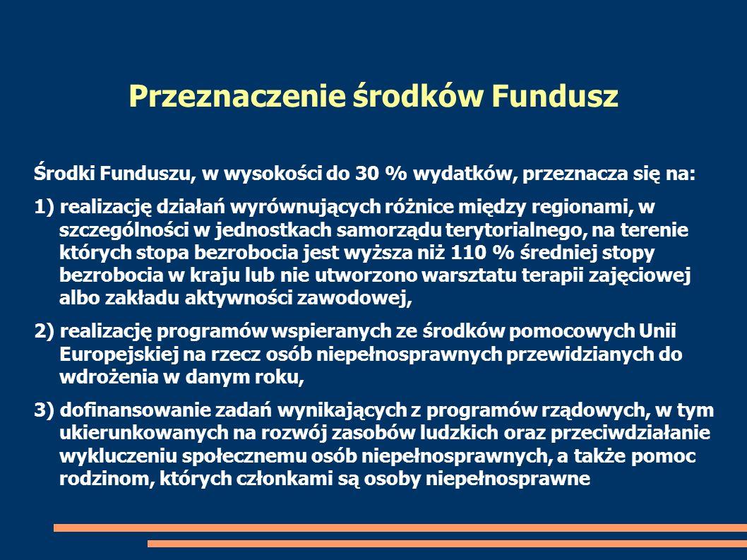 Przeznaczenie środków Fundusz