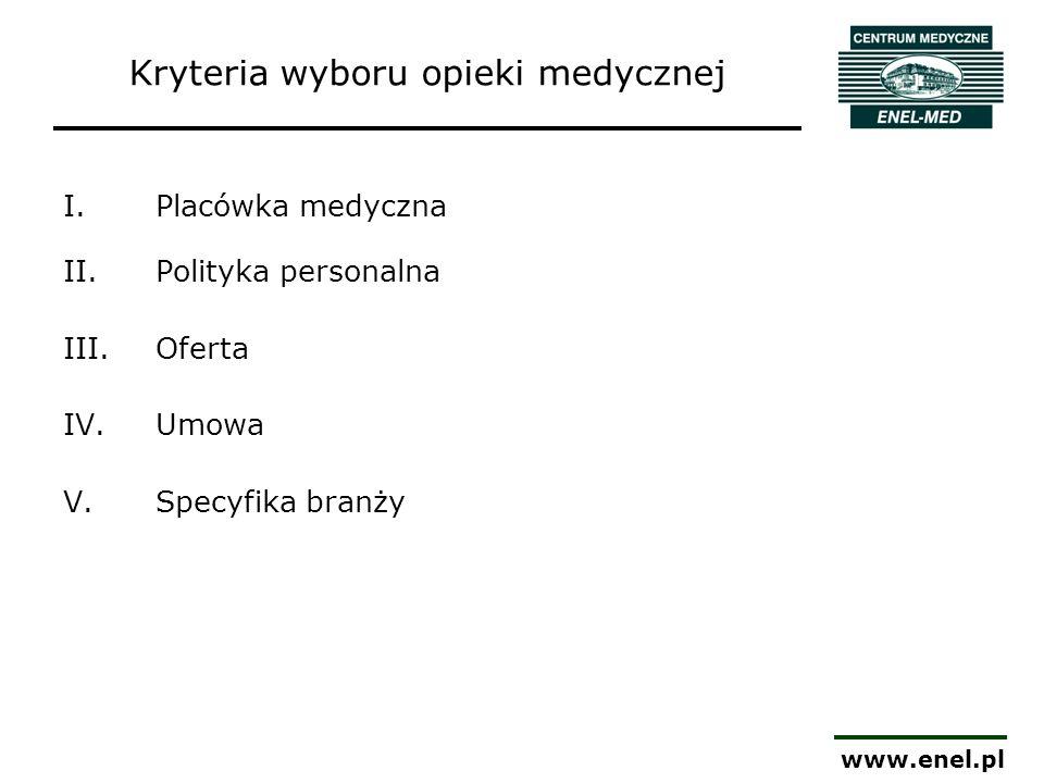 Kryteria wyboru opieki medycznej