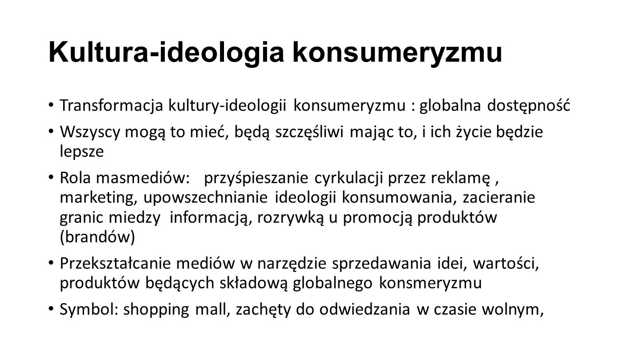 Kultura-ideologia konsumeryzmu