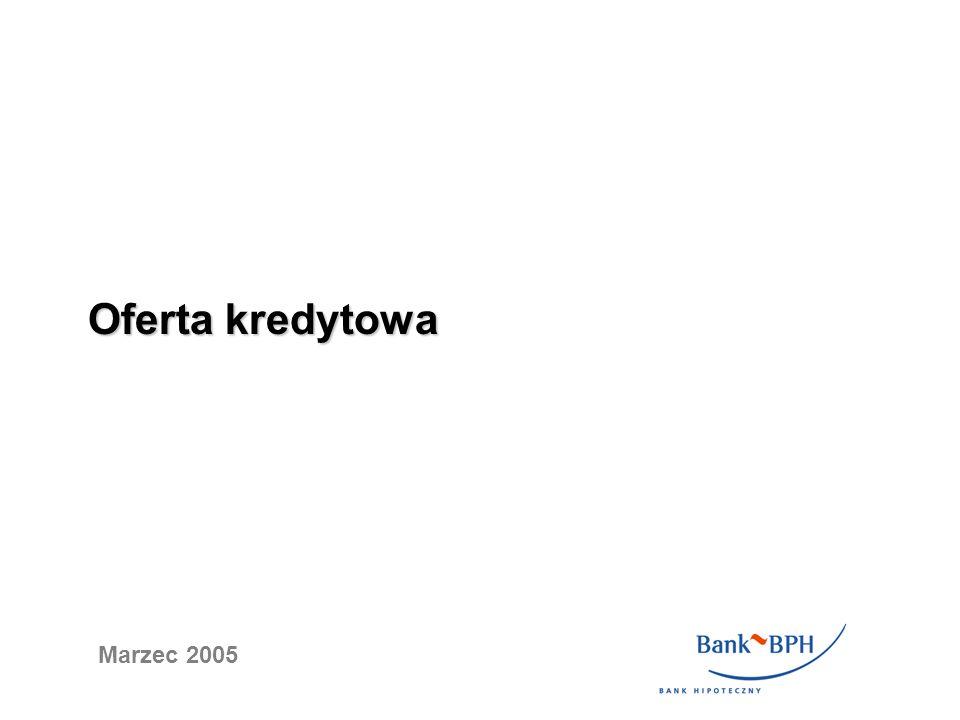 Oferta kredytowa Marzec 2005