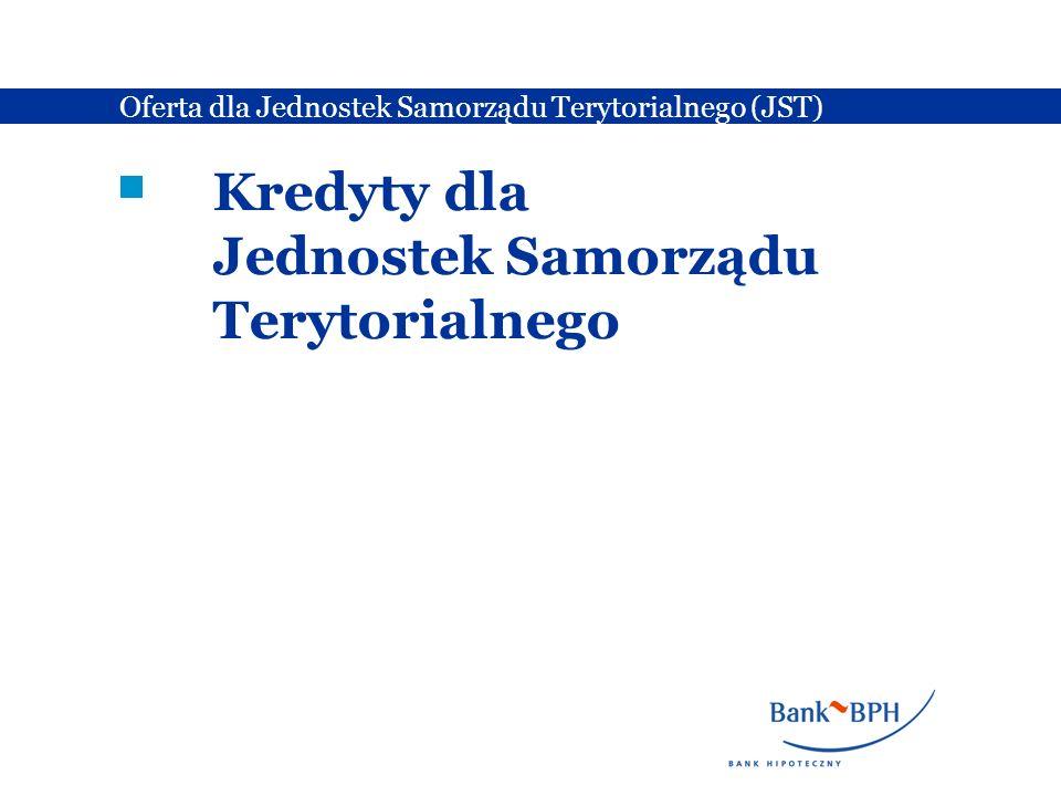 Kredyty dla Jednostek Samorządu Terytorialnego