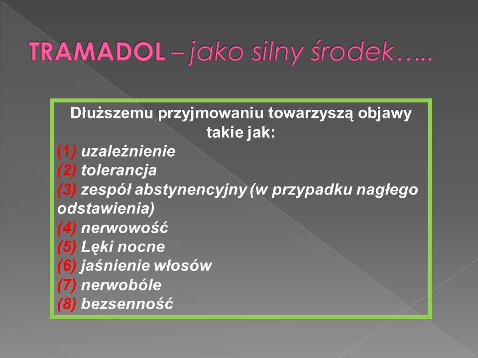TRAMADOL – jako silny środek…..
