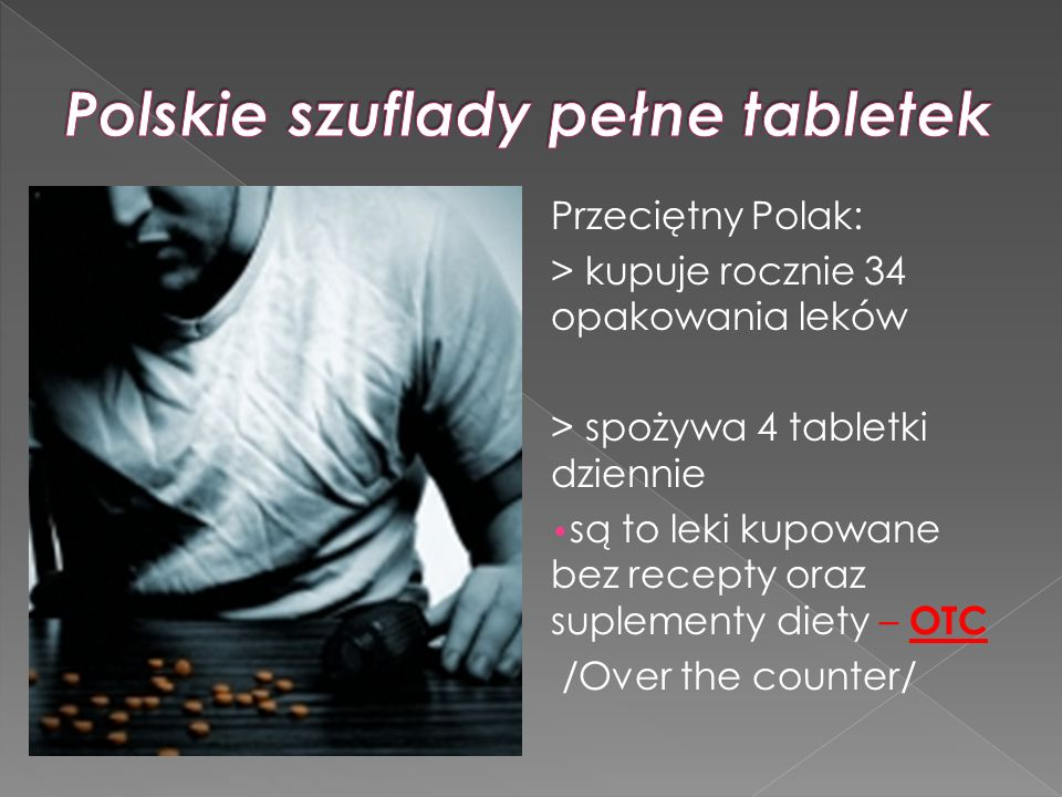 Polskie szuflady pełne tabletek