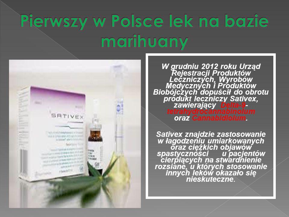 Pierwszy w Polsce lek na bazie marihuany