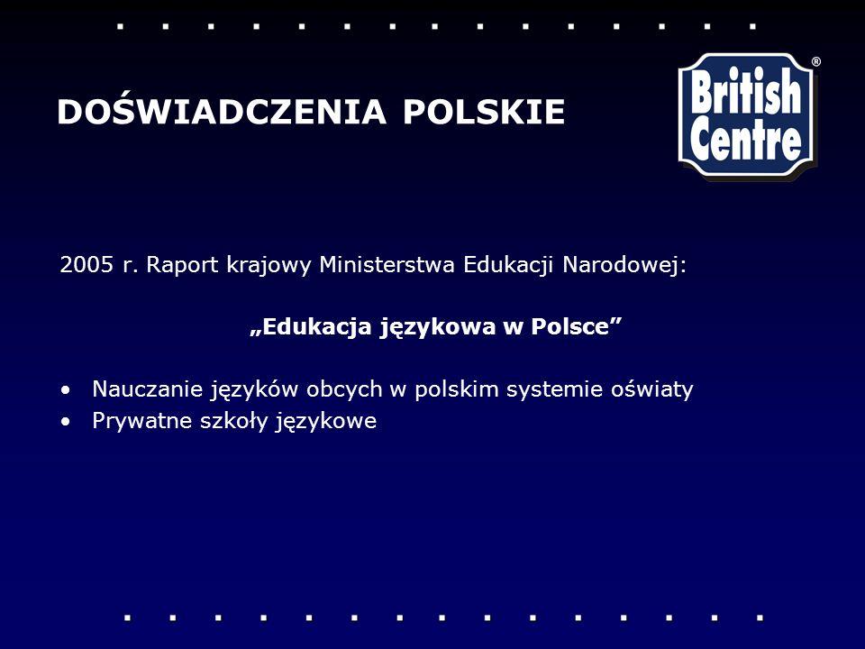 """""""Edukacja językowa w Polsce"""