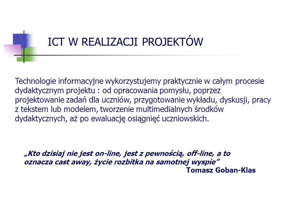 ICT W REALIZACJI PROJEKTÓW