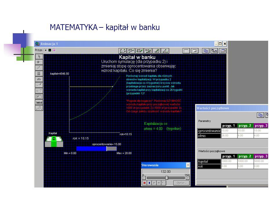 MATEMATYKA – kapitał w banku