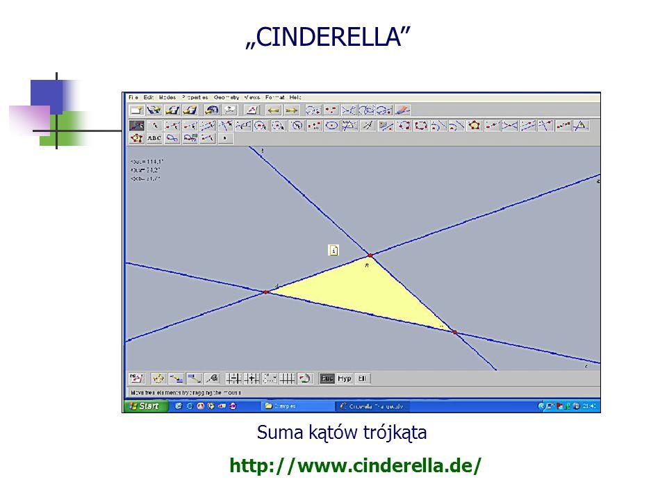 """CINDERELLA Suma kątów trójkąta http://www.cinderella.de/"
