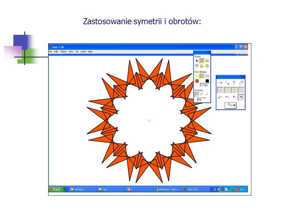 Zastosowanie symetrii i obrotów: