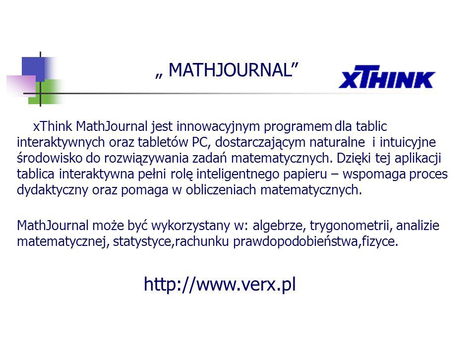 """ MATHJOURNAL http://www.verx.pl"