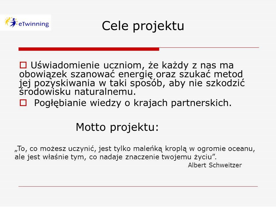 Cele projektu Motto projektu: