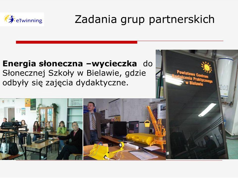 Zadania grup partnerskich