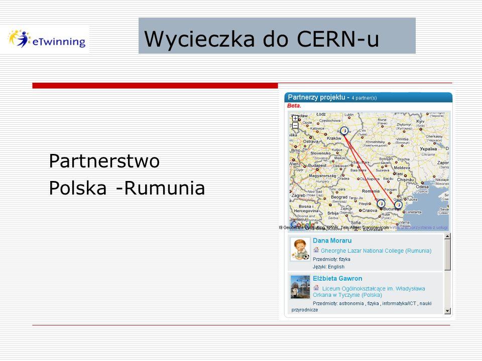 Wycieczka do CERN-u Partnerstwo Polska -Rumunia