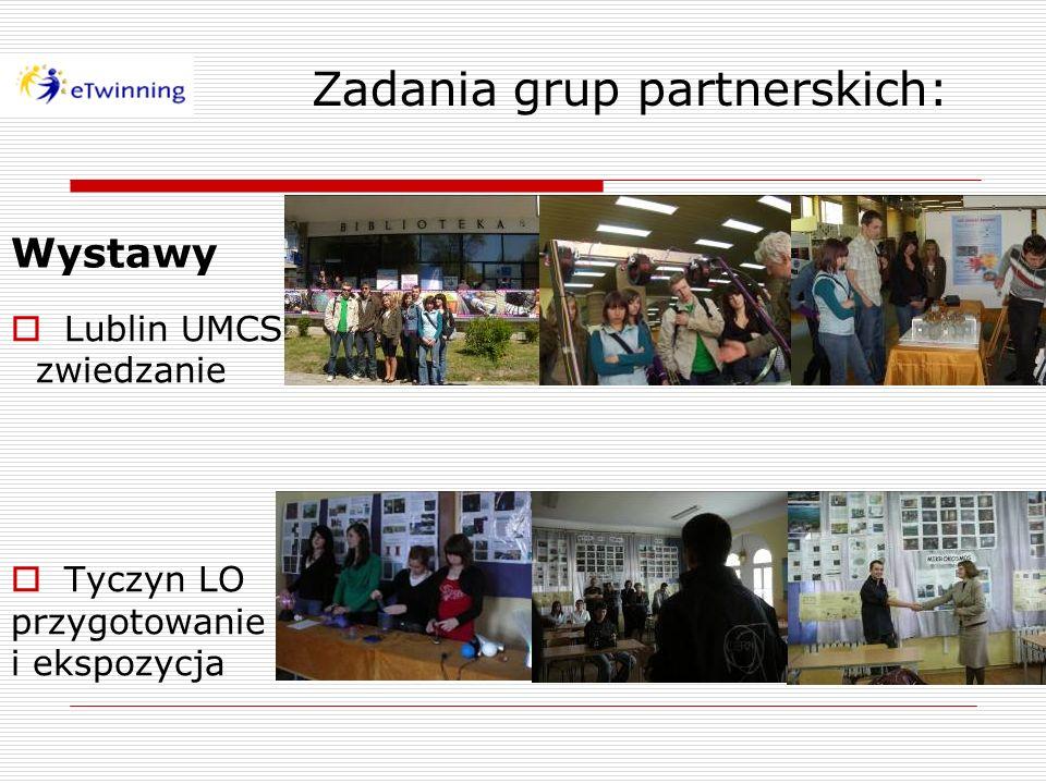 Zadania grup partnerskich: