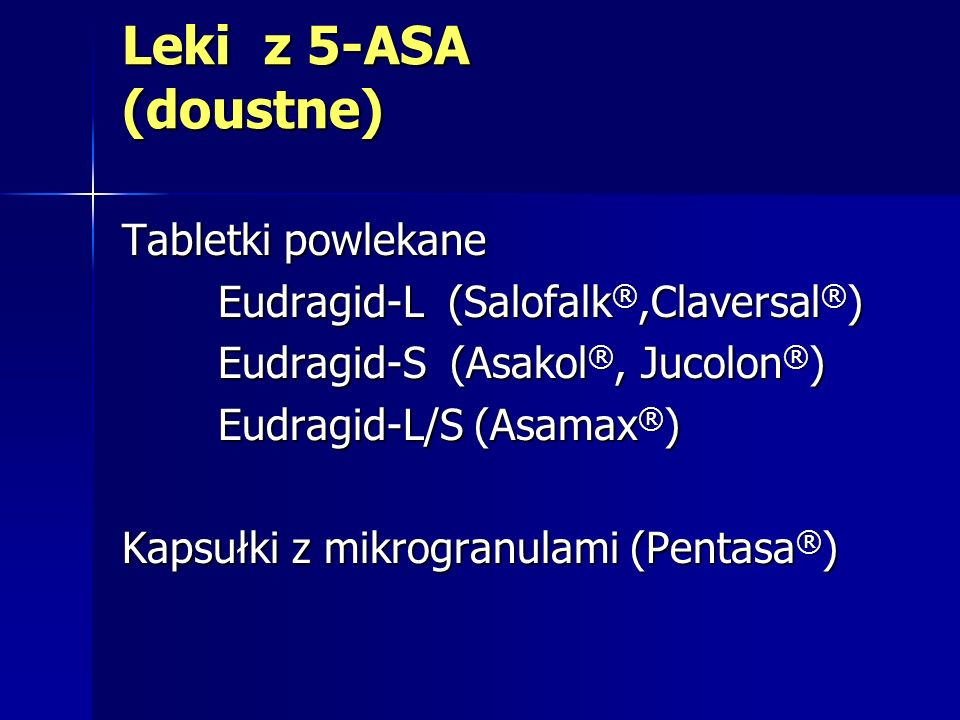 Leki z 5-ASA (doustne) Tabletki powlekane