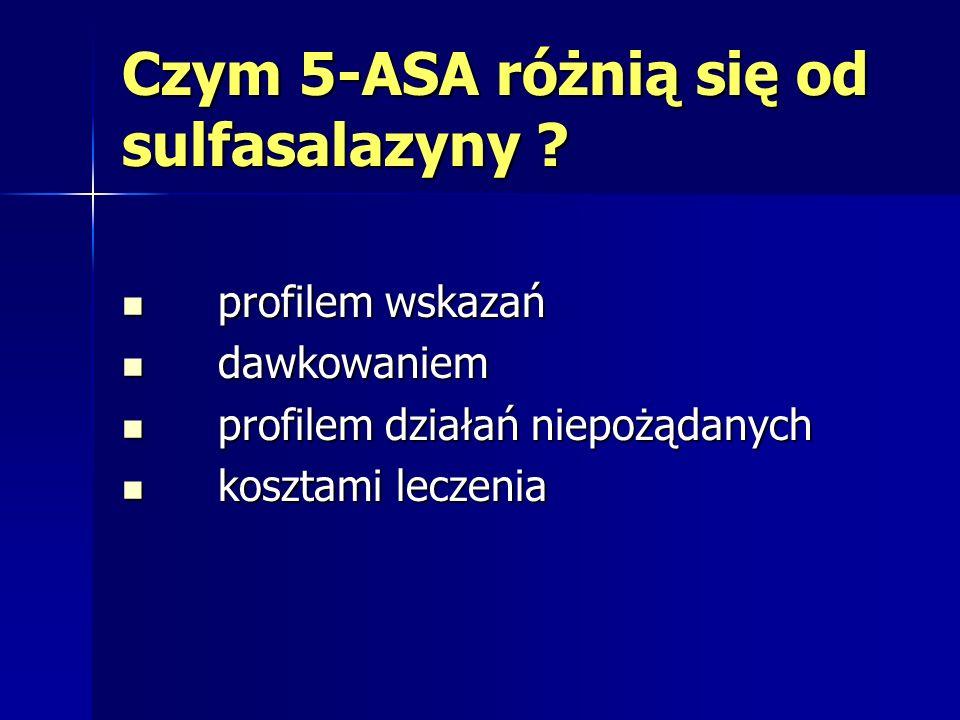 Czym 5-ASA różnią się od sulfasalazyny