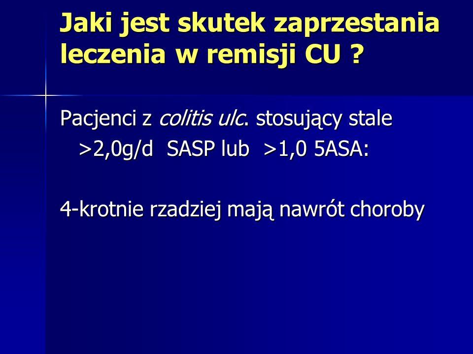 Jaki jest skutek zaprzestania leczenia w remisji CU