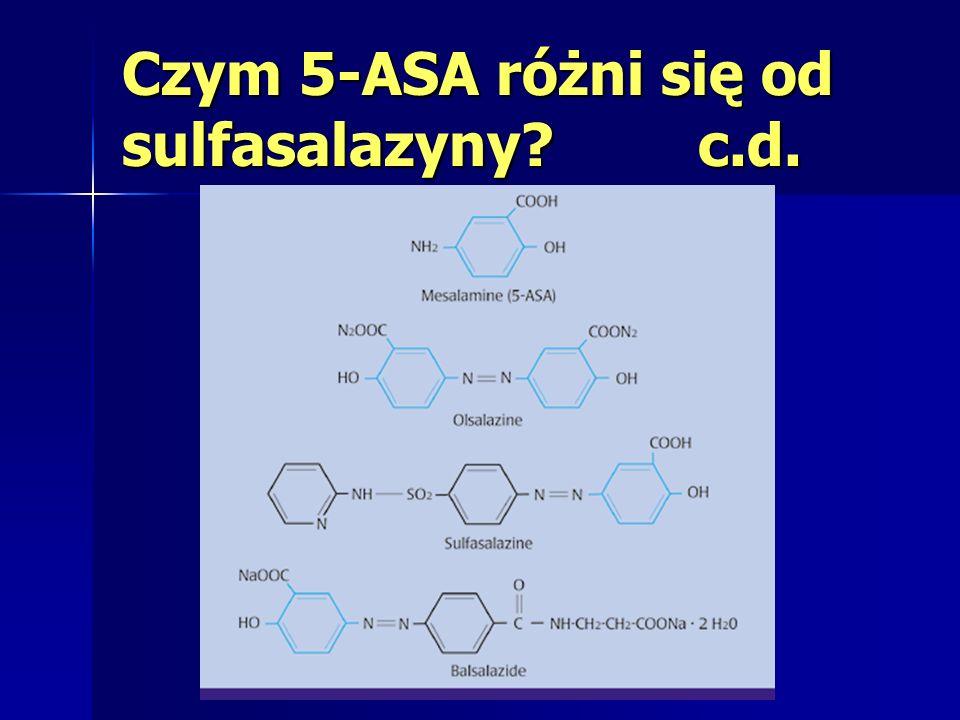 Czym 5-ASA różni się od sulfasalazyny c.d.