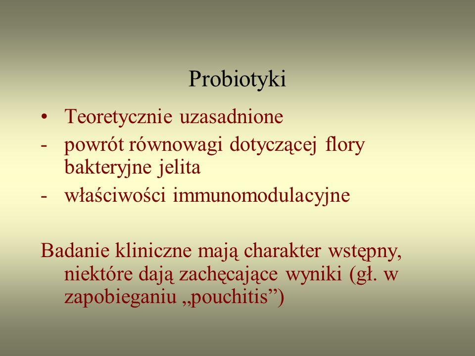 Probiotyki Teoretycznie uzasadnione