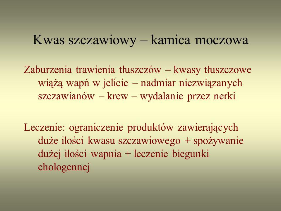 Kwas szczawiowy – kamica moczowa