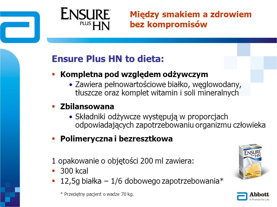 Ensure Plus HN to dieta:
