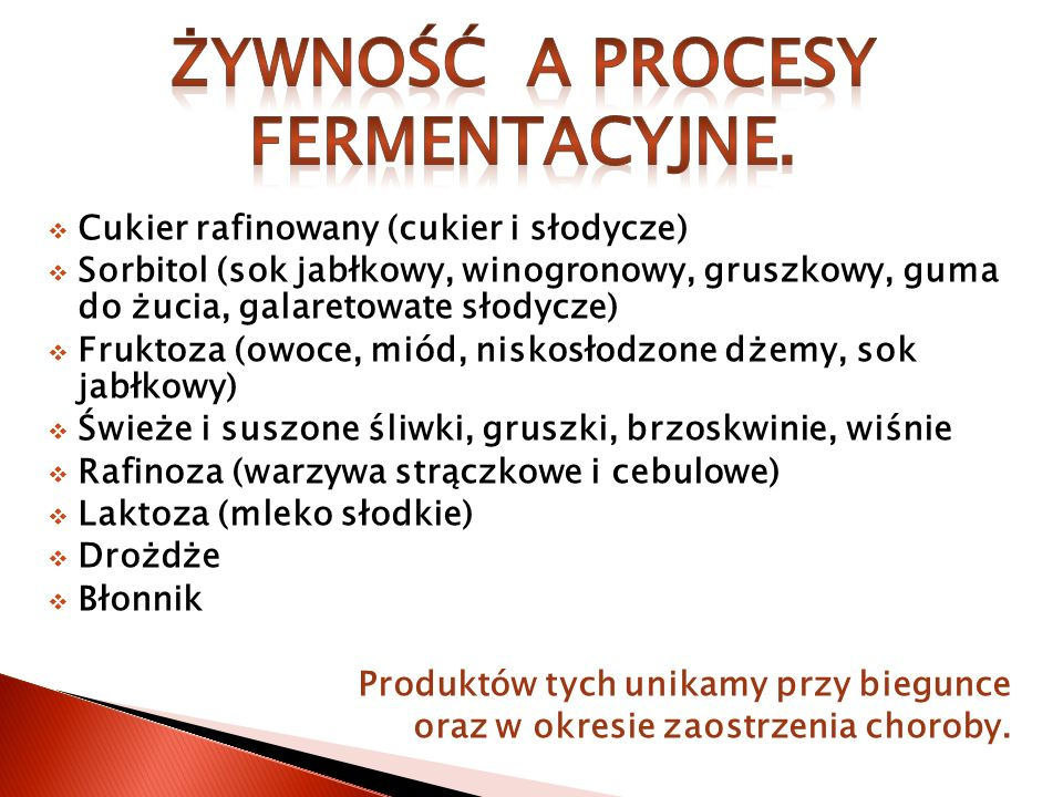 Żywność a procesy fermentacyjne.
