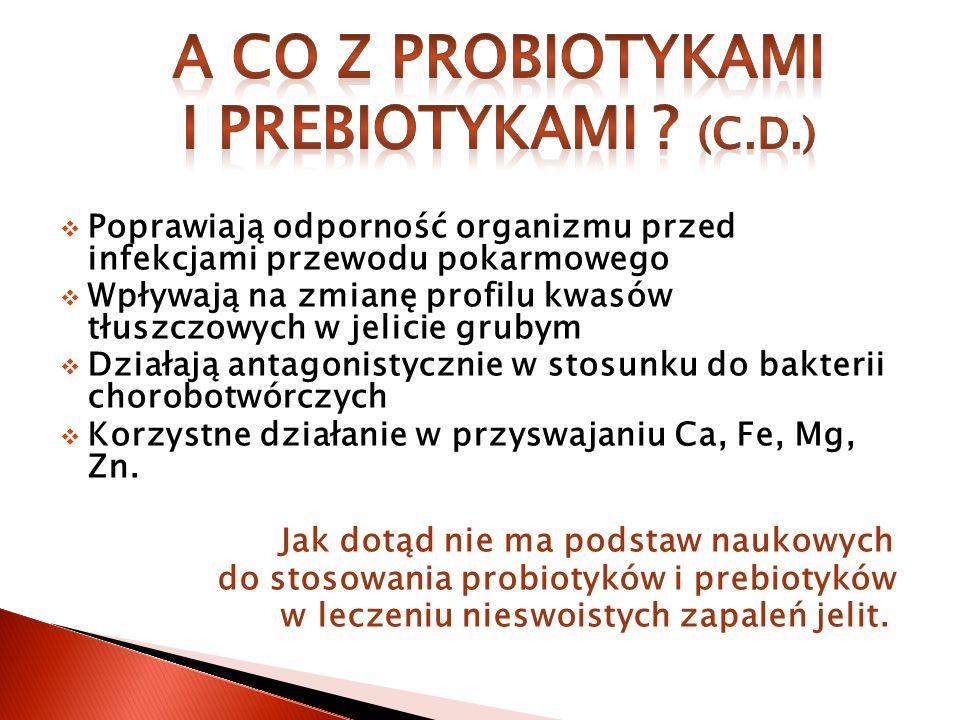 A co z probiotykami i prebiotykami (c.d.)