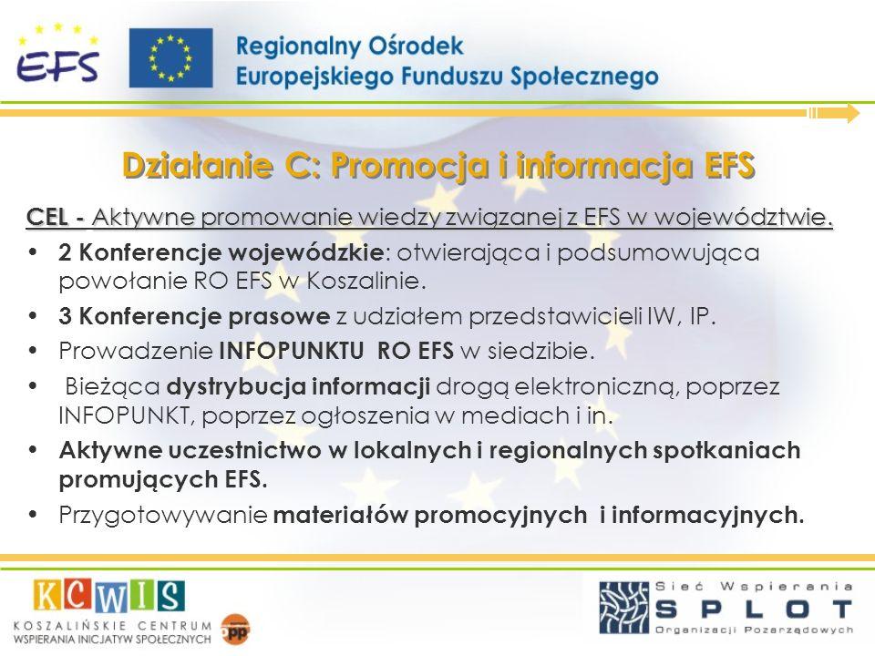 Działanie C: Promocja i informacja EFS