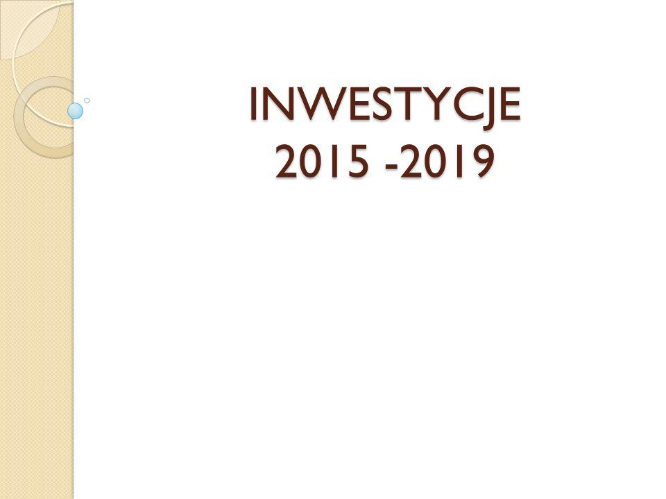 INWESTYCJE 2015 -2019