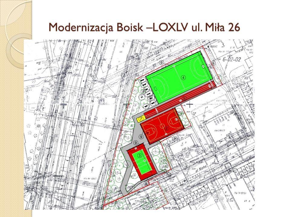 Modernizacja Boisk –LOXLV ul. Miła 26