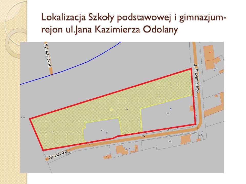 Lokalizacja Szkoły podstawowej i gimnazjum-rejon ul