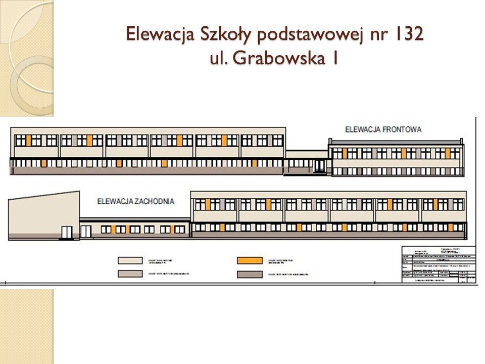 Elewacja Szkoły podstawowej nr 132 ul. Grabowska 1