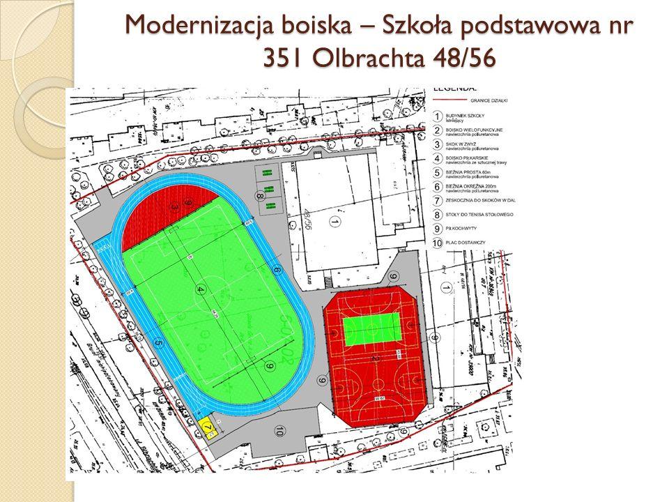 Modernizacja boiska – Szkoła podstawowa nr 351 Olbrachta 48/56