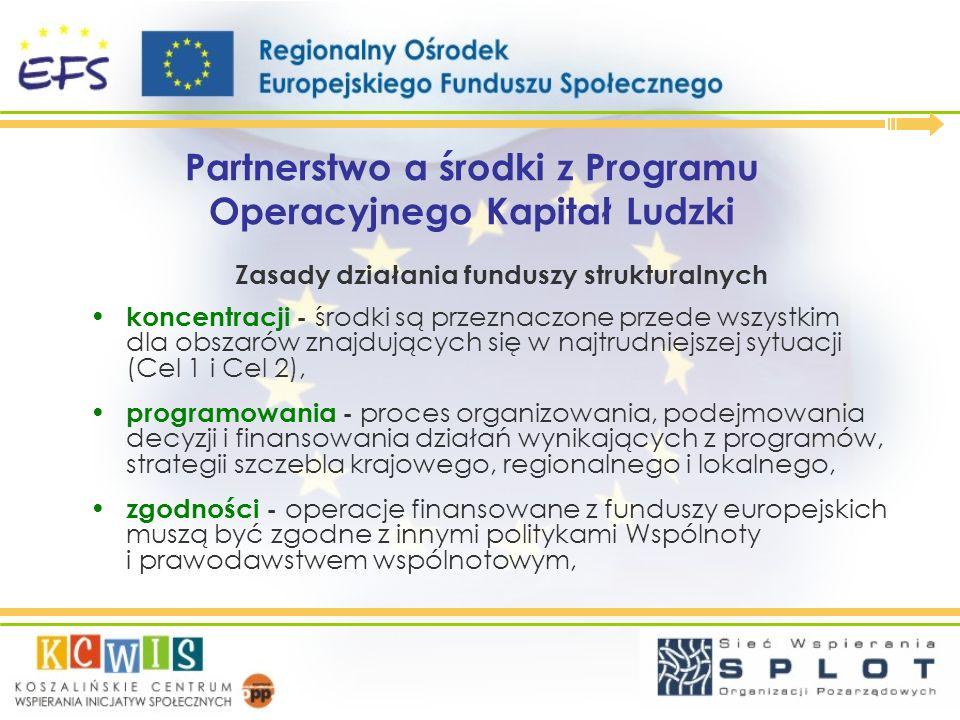 Partnerstwo a środki z Programu Operacyjnego Kapitał Ludzki