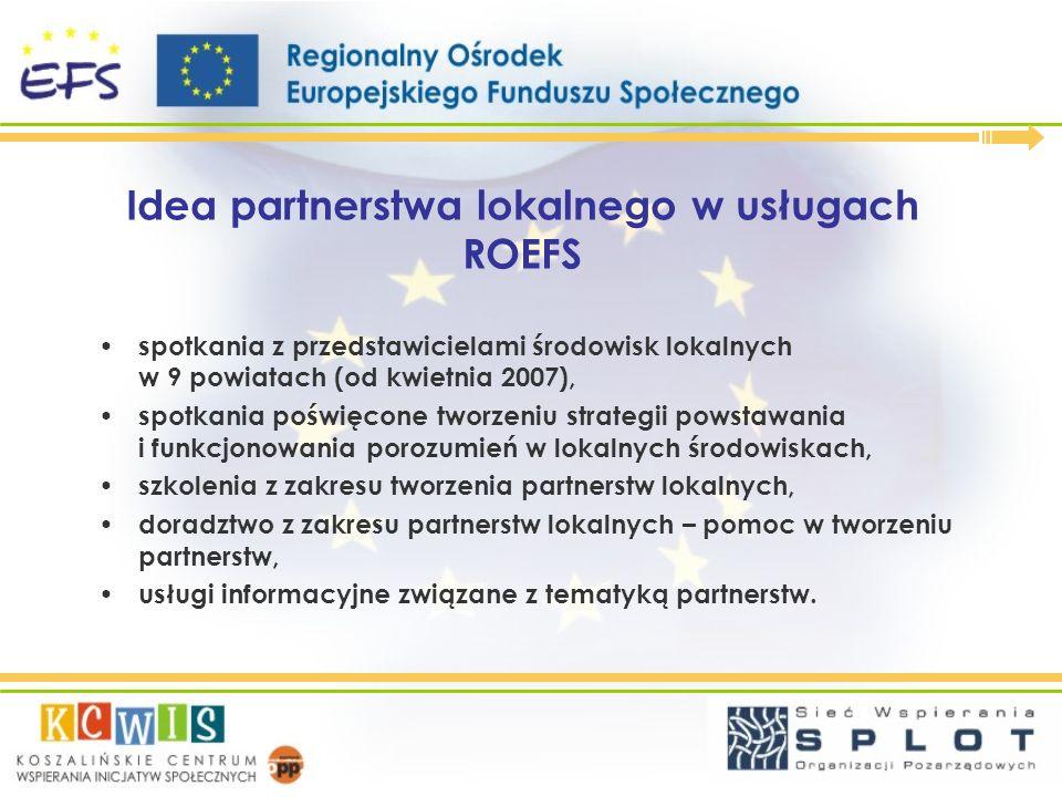 Idea partnerstwa lokalnego w usługach ROEFS