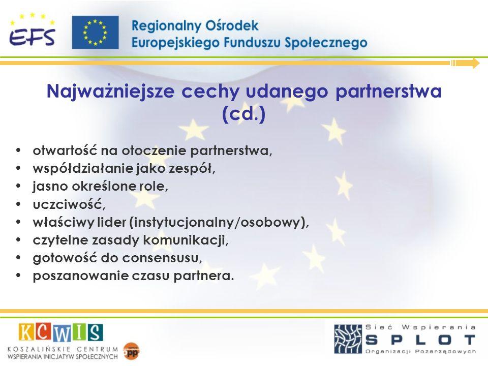 Najważniejsze cechy udanego partnerstwa (cd.)