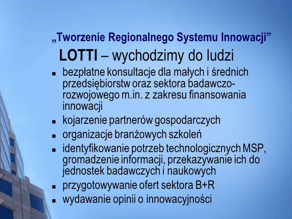 """""""Tworzenie Regionalnego Systemu Innowacji LOTTI – wychodzimy do ludzi"""