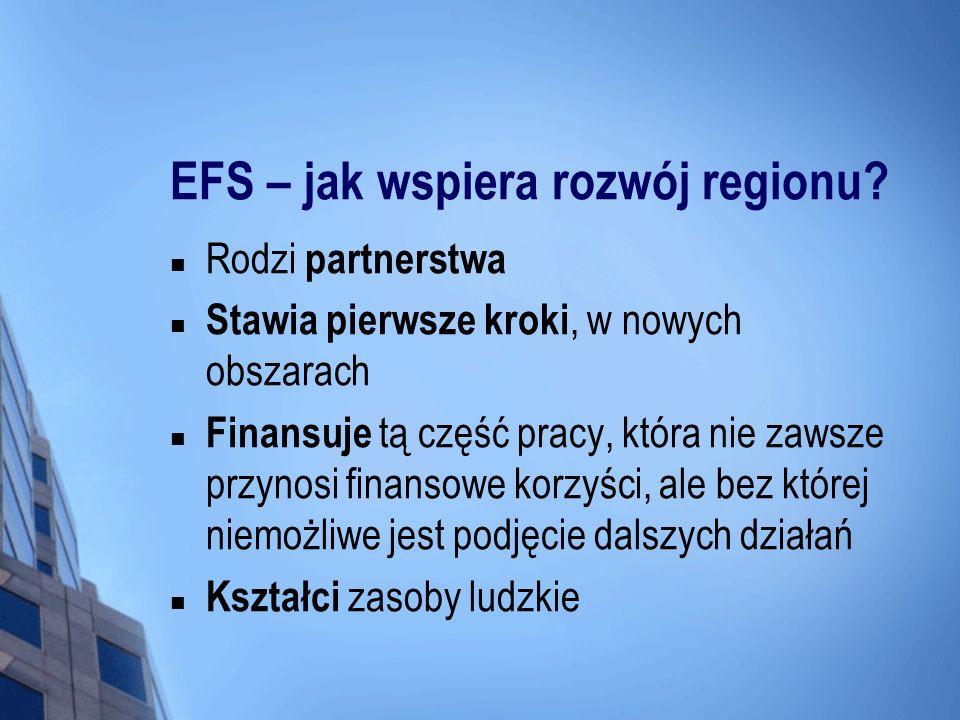 EFS – jak wspiera rozwój regionu