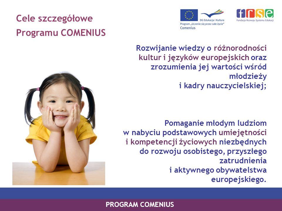 Cele szczegółowe Programu COMENIUS
