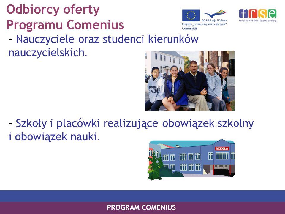 Odbiorcy oferty Programu Comenius