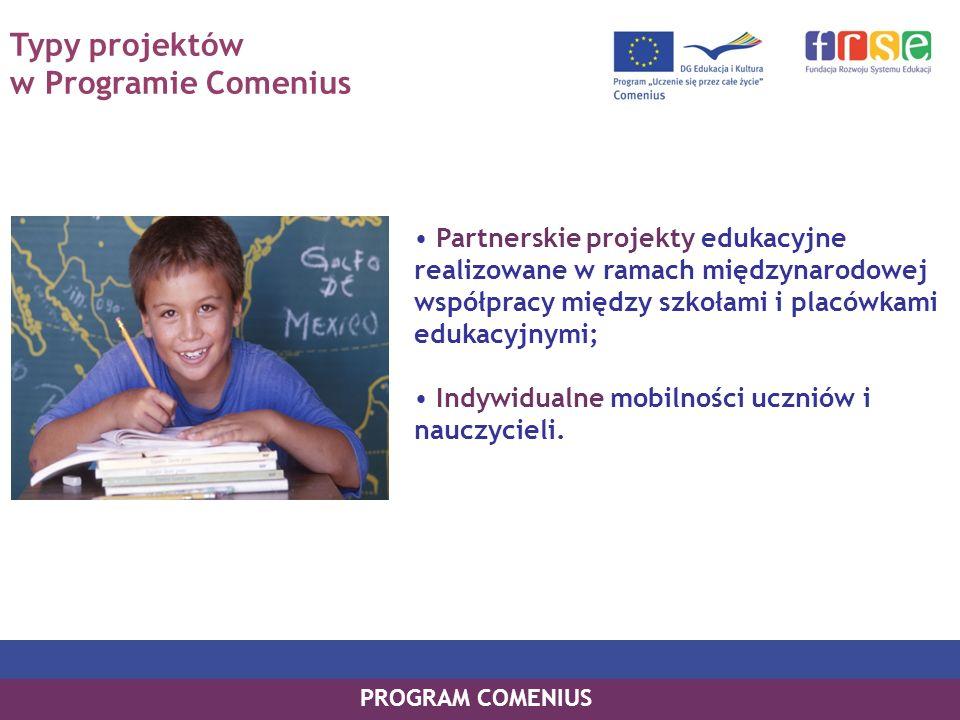Typy projektów w Programie Comenius