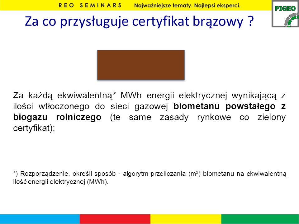 Za co przysługuje certyfikat brązowy
