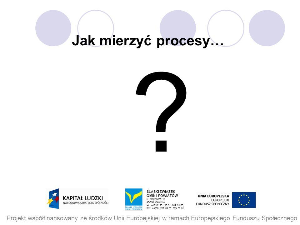Jak mierzyć procesy… ŚLĄSKI ZWIĄZEK. GMIN I POWIATÓW. ul. Stalmacha 17. 40-058 Katowice. tel.: +4832/ 251 10 21, 609 03 50,