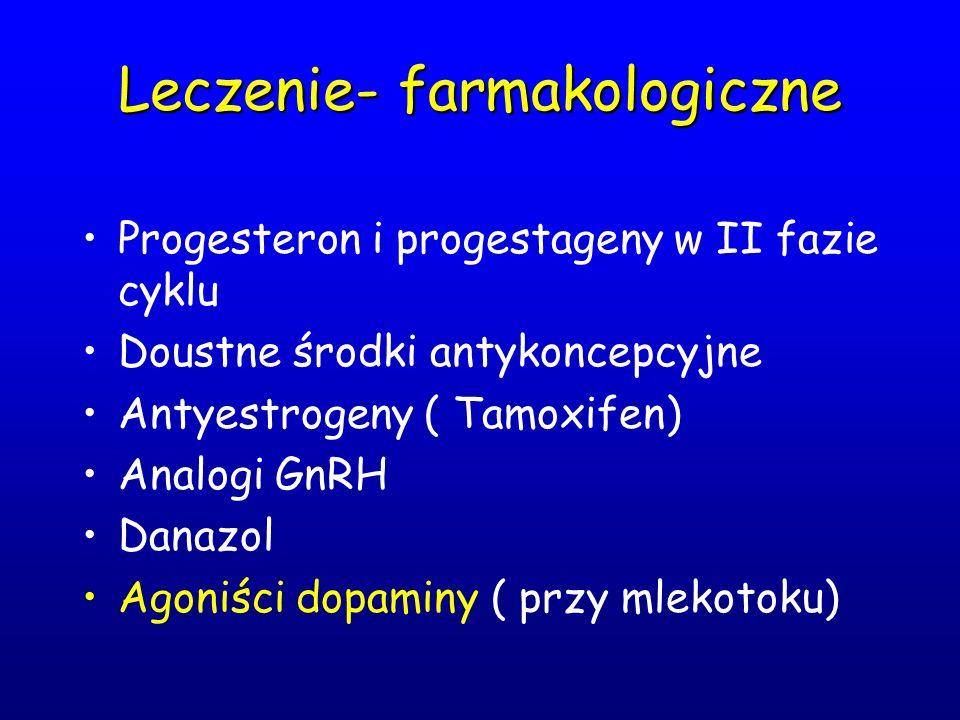 Leczenie- farmakologiczne