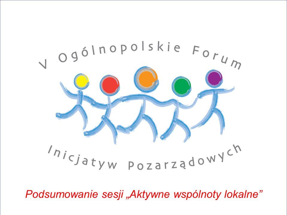 """Podsumowanie sesji """"Aktywne wspólnoty lokalne"""