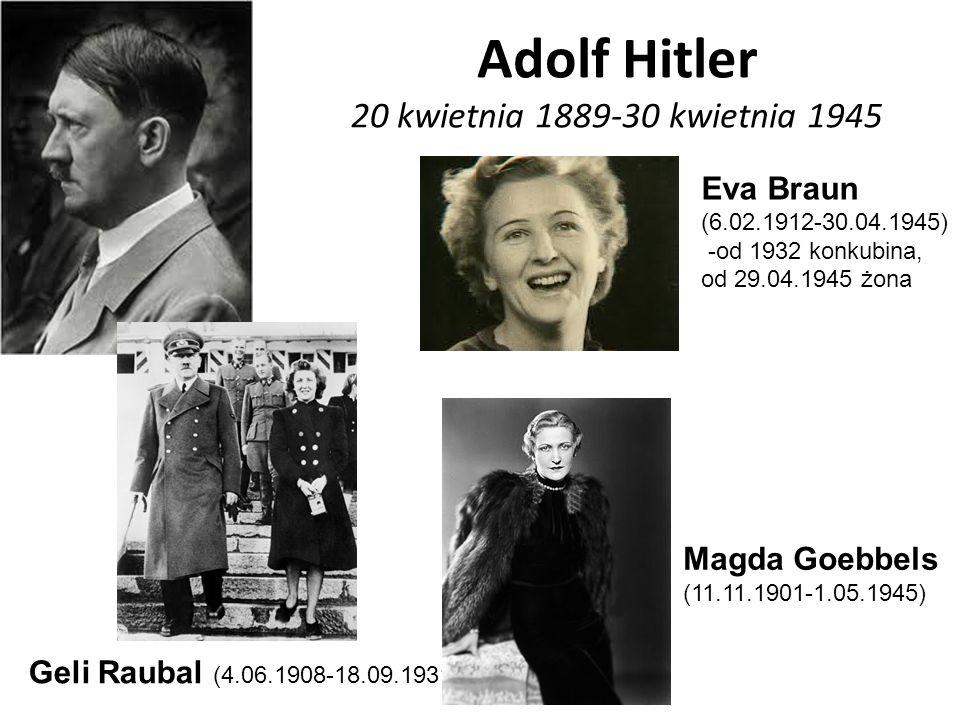 Adolf Hitler 20 kwietnia 1889-30 kwietnia 1945